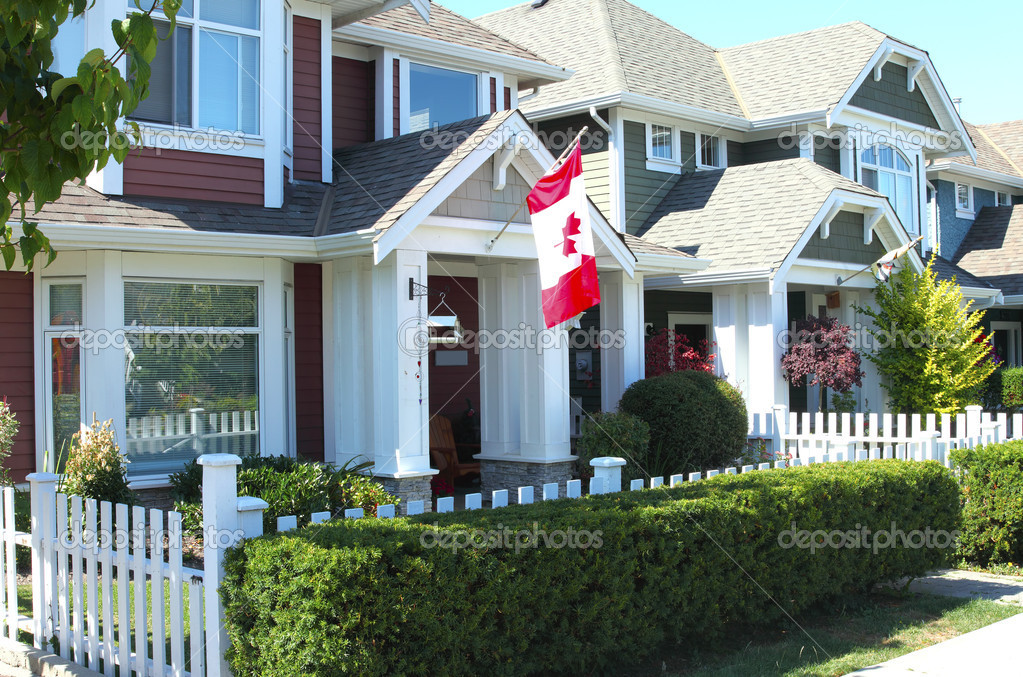 Residences in South Richmond BC a close neighborhood. — Stock Photo #6966696
