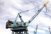 Cranes at work. — Stock Photo