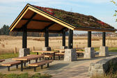 Recreational & picnic area shelter. — Stock Photo