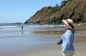 エコラ州立公園オレゴン州の海岸、インドのビーチ. — ストック写真