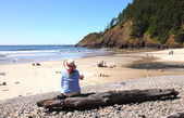 Indian beach Ecola state park, Oregon coast. — Stock Photo
