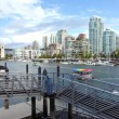 Ferries terminal in Granville island Vancouver BC. — Stock Photo