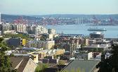 Port of Seattle and surroundings, Washington state. — Stock Photo