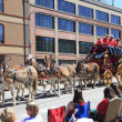 PORTLAND - JUNE 12: Rose Festival annual parade through downtown June 12, 2 — Foto de Stock