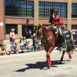 PORTLAND - JUNE 12: Rose Festival annual parade through downtown June 12, 2 — Stock Photo