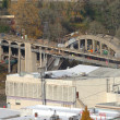 Construction of a new bridge, Oregon city OR. — Stock Photo