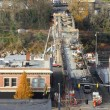 Stock Photo: Construction of new bridge, Oregon city OR.