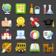 School,education,research icon set — Stock Vector