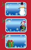 Christmas gift tags — Stock Vector