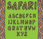Safari ABC — Stock Vector