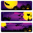 Halloween banners — Stock Vector #6769851