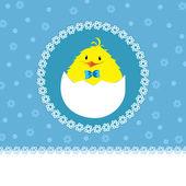 Cute chick - baby boy — Stock Vector