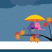 Pioggia o sole Vieni — Vettoriale Stock