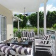 Stock Photo: Outdoor deck and entertaining area