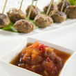 Chutney with Meat Balls — Stock Photo