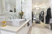 Contemporary Bathroom with Walk in Robe — Stock Photo