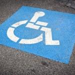 Wheelchair Sign — Stock Photo