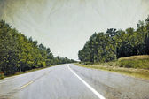 Vintage Picture Design - Road — Stock Photo
