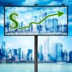 Billboard with stock market diagram — Stock Photo #6989588