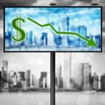 Billboard with stock market diagram — Stock Photo #6989589