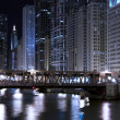 Chicago at Night — 图库照片