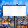 Billboard with Night City Background — Stok fotoğraf