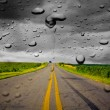 Stock Photo: Rain on Road