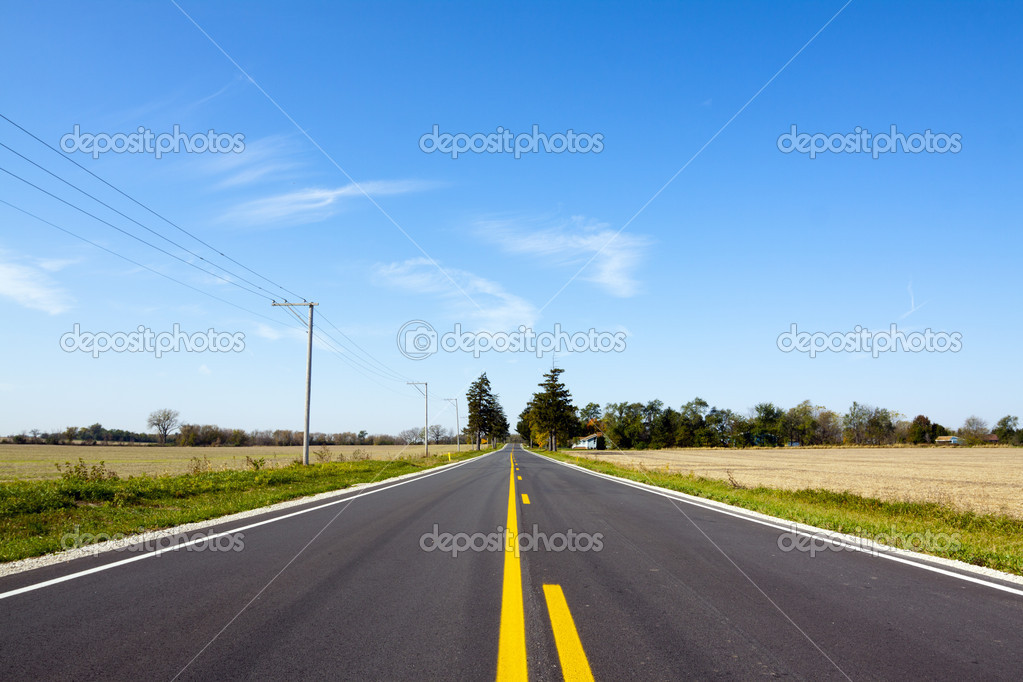 American Country Road — Stock Photo #7341070