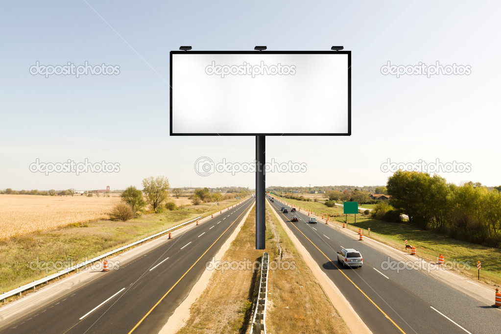 Billboard on american toll way  — Stock Photo #7341206