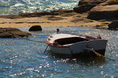 Boat in th beach — Stock Photo