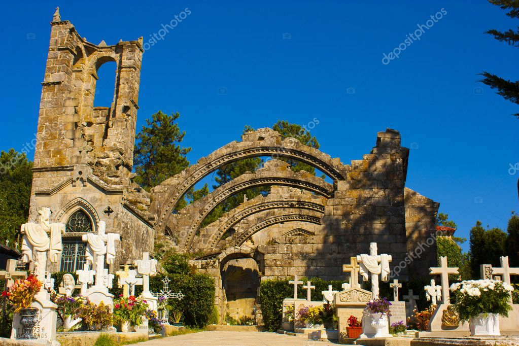 A cementery in Galicia, Spain — Stock Photo #6963748