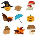 Autumn icon set — Stock Vector #7028710