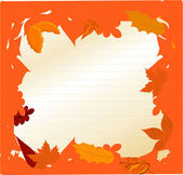 Illustration autumn frame made of various leaves - vector — Stock Vector