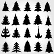 Stock Vector: Set of christmas trees