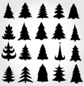 Set of christmas trees — Stock Vector