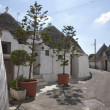 Alley Alberobello, Apulia. - Stock Photo