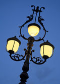 Old lamp at dusk — Stock Photo
