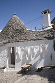 Washing day Alberobello — Stock Photo