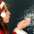 Santa Claus and the Snow — Stockfoto