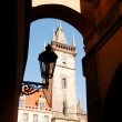 The Clock Tower Square in Prague — Foto de Stock
