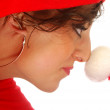 The hat of Santa Claus — Stock Photo #6747534