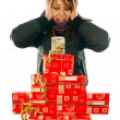 Stock Photo: Joy at gifts