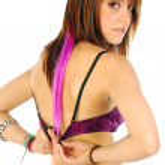 Woman takes off her bra 009 — Stock Photo