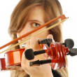 Woman with violin 004 - Photo
