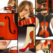 Woman with Violin - Photo
