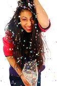 Launch confetti — Stock Photo