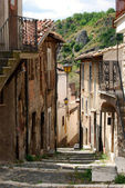 Road to the steps of Assergi - Abruzzo - Italy — Stock Photo