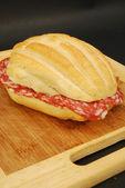 Salami sandwich 006 — Stock Photo