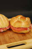 Sandwiches (ham and salami) 002 — Foto Stock