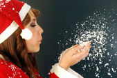 Santa Claus and the Snow — Stock Photo